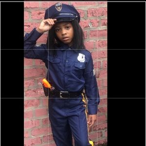 Kids blue cop uniform